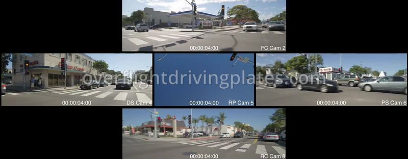 Downtown  Santa Monica California USA - Driving Plate Preview 2012