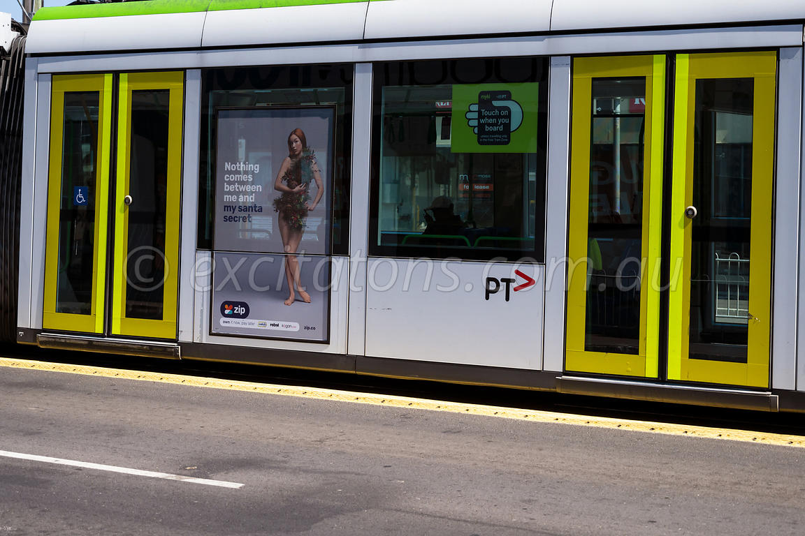 Melbourne tram, abstract.