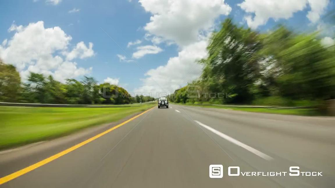 Driving time lapse through Puerto Rico.