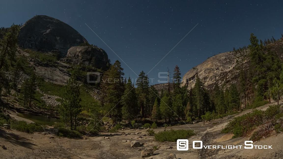 California USA Star time lapse in Yosemite.