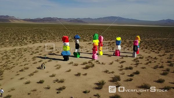 Desert Art at Seven Magic Mountains Las Vegas Nevada