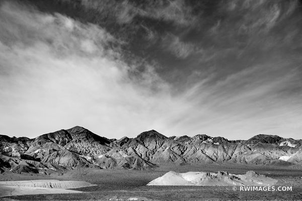 DEATH VALLEY CALIFORNIA AMERICAN SOUTHWEST DESERT BLACK AND WHITE LANDSCAPE