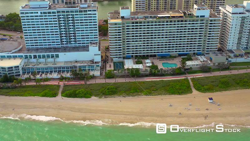 Miami Beach in October aerial drone video 4k