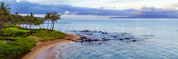 Panoramic Maui Aerial Photography of Keawakapu Beach