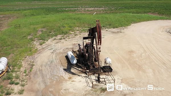 Operating oil well pump jack, Robertson County, Texas, USA