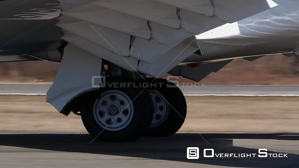 Business Jet  Landing Gear Closeup Taxiing Teterboro Airport