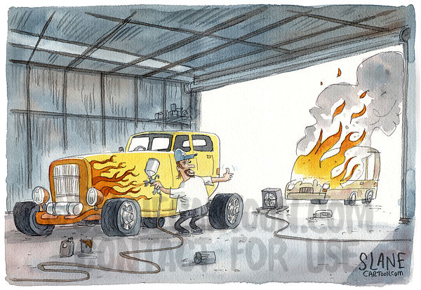 Flame Car Painting