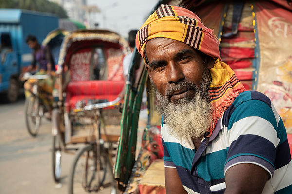 Portrait of a Rickshaw Driver
