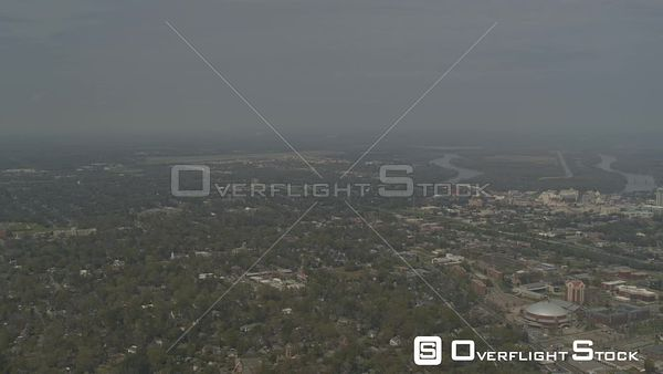 Montgomery Alabama wide angle view of the asu campus and suburban areas as well as gun island chute  DJI Inspire 2, X7, 6k
