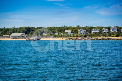 The overlooking view of the island in Massachusetts at Cape Cod Martha's Vineyard