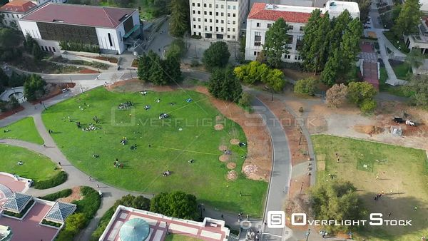 Memorial Glade Drone Aerial View University of California Berkeley