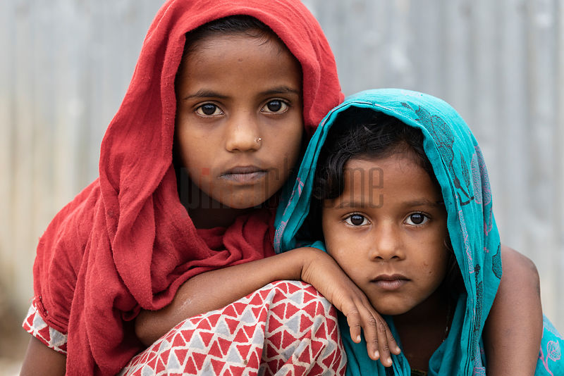 Portrait of Two Children at the Jaflong Batching Plant
