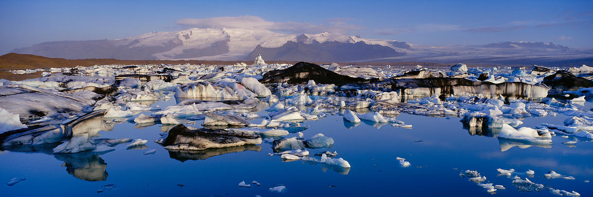 Overview of Jokulsarlon Glacial Lagoon