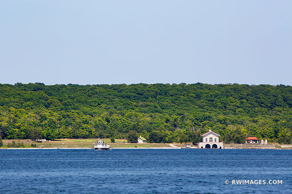 KARFI AND BOATHOUSE ROCK ISLAND STATE PARK SHORE FROM WASHINGTON ISLAND DOOR COUNTY WISCONSIN
