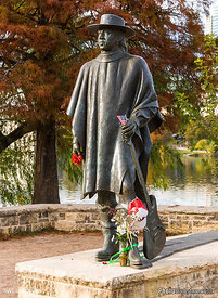 Stevie Ray Vaughan Memorial Statue