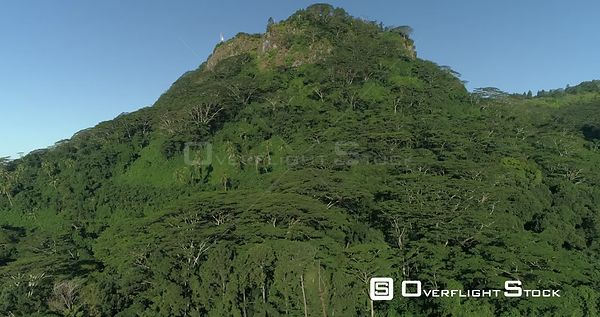 Drone video mountain Tapioi Raiatea French Polynesia