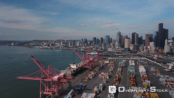 Seattle Washington State USA Downtown and Shipping Docks