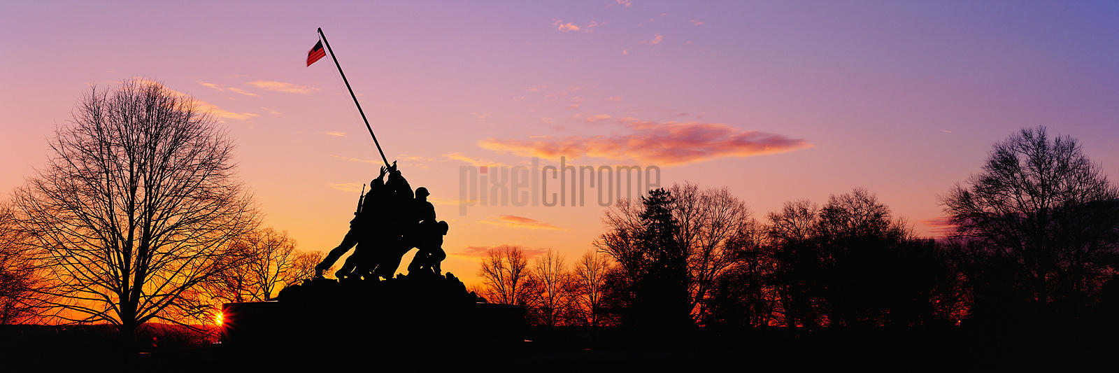 Iwo Jima Memorial at Sunrise