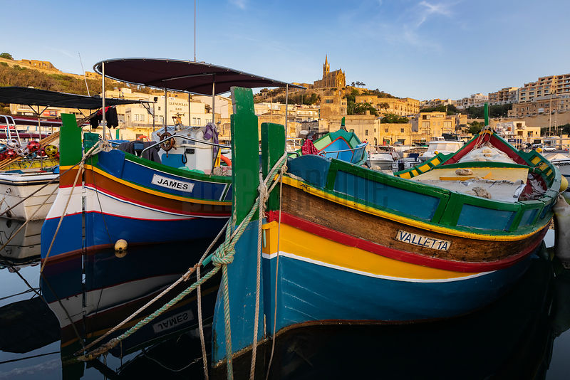 Fishing Boats at the Harbour at Mgaar
