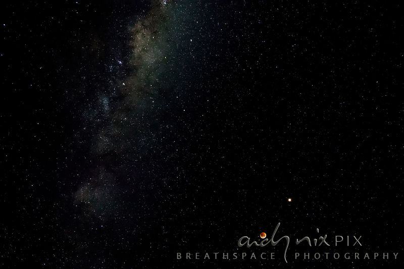 Moon, Mars and the Milky Way, Lunar Eclipse 27 July 2018