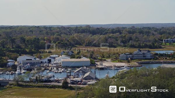 Cape Cod Massachusetts Panoramic cityscape of Millway Marina neighborhood