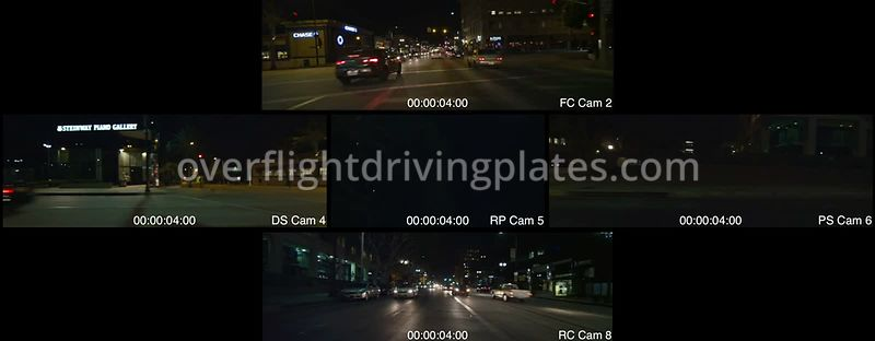 Old Town Night  Pasadena California USA - Driving Plate Preview 2012