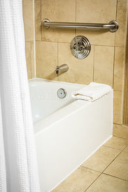 Disability Accessible Bathtub in a Hotel Room