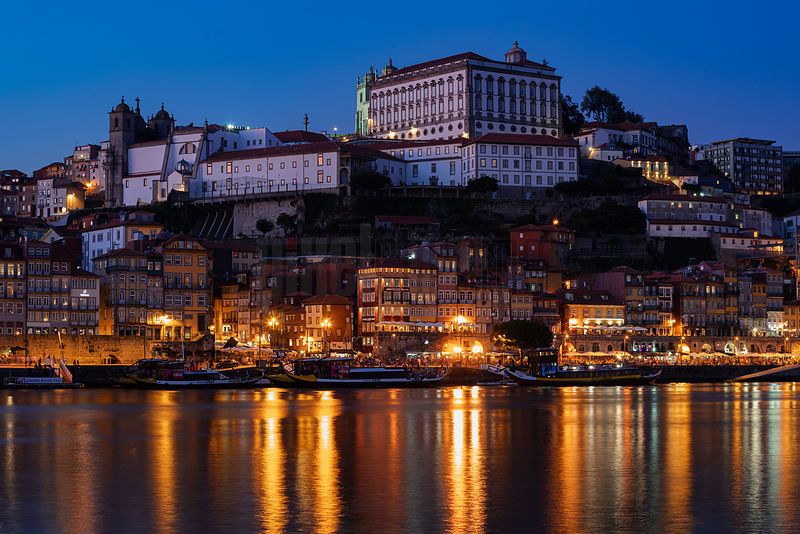 Ribeira District at Dusk