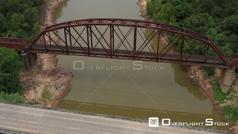 Whiskey Bridge over the Brazos River, Brazos County, Texas, USA