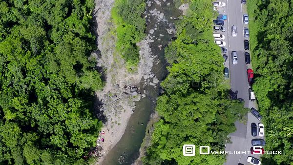 Swimming Hole El Yunque National Rainforest Drone Aerial View Puerto Rico