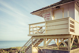 Maui Lifeguard Tower Kamaole Beach Photo