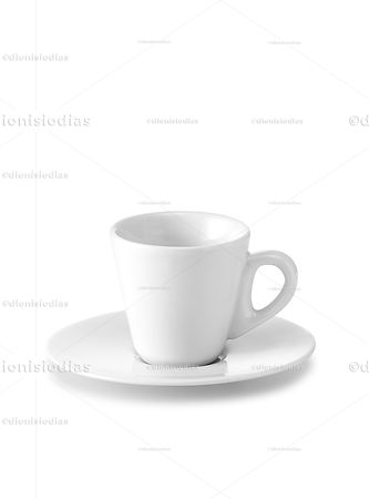 Cup with saucer of insulated dinnerware 08 with path.