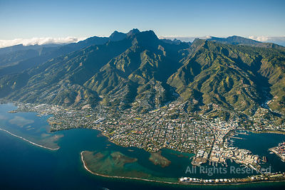 Tropical Islands of French Polynesia. Capital City Papeete on Tahiti