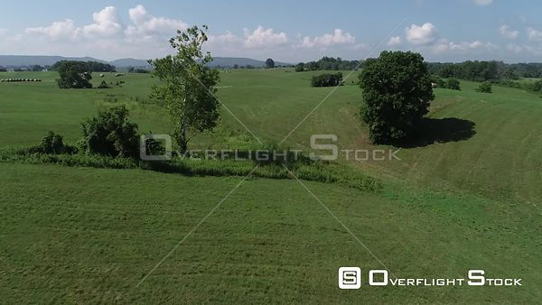 Rural Pasture Land and Farming Kentucky Drone Footage