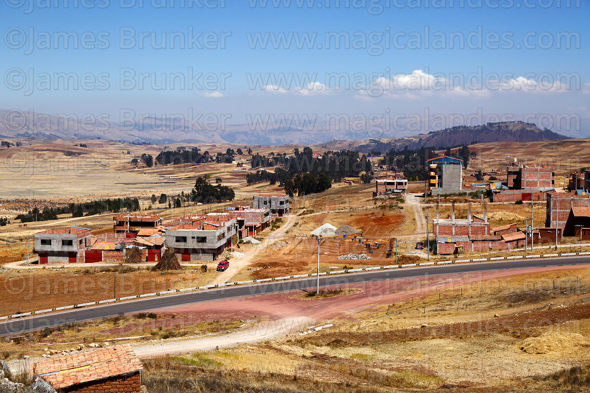 Buildings under construction at Nuevo Chinchero, near the original village of Chinchero, Cusco Region, Peru