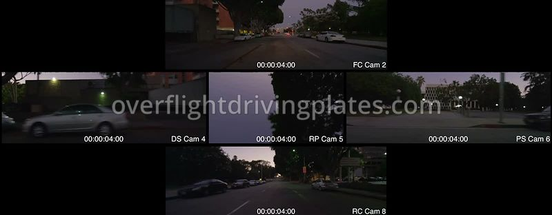 Green Street Twilight  Pasadena California USA - Driving Plate Preview 2012