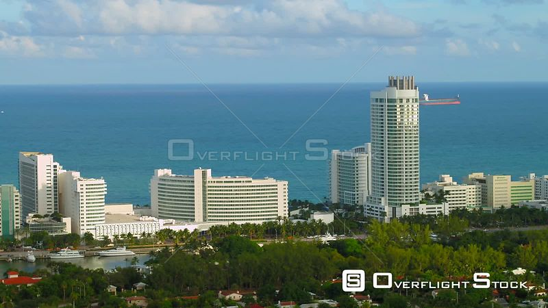 Drone video Miami Beach Fontainebleau Hotel 4k