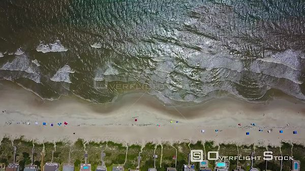 Aerial of Beach in Outer Banks, NC