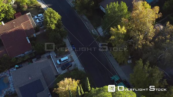 Woodland Hills is a Neighborhood Bordering the Santa Monica Mountains in the San Fernando Valley Los Angeles Drone Aerial View