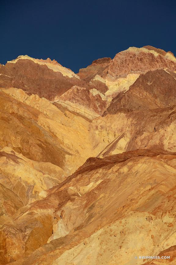 ARTISTS DRIVE COLORFUL BADLANDS DEATH VALLEY CALIFORNIA COLOR VERTICAL