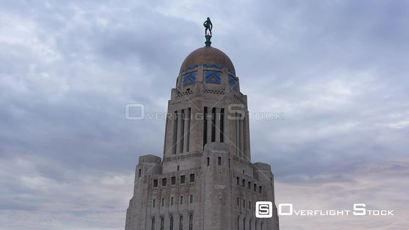 Top of the state capital building, Lincoln, Nebraska, USA