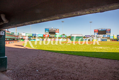 View From Dugout of McCoy Stadium