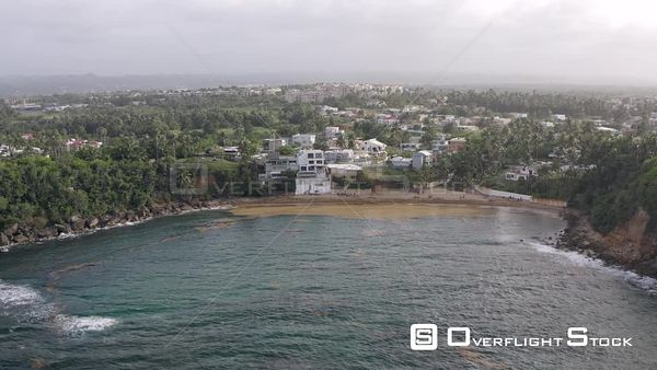 Bay with Holiday Homes and Hotels San Juan Drone Aerial View Puerto Rico