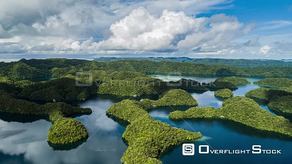 Hyperlapse of Ngermid or Nikko Bay Palau Drone Video