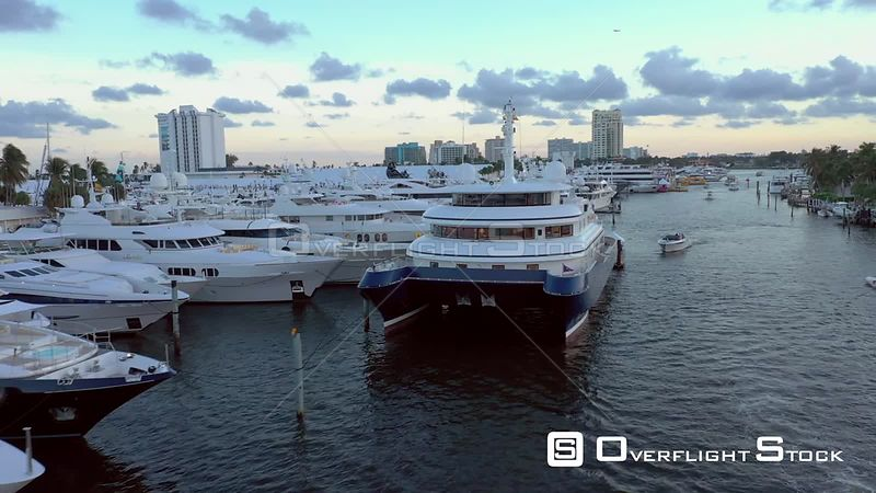 Aerial Shot Fort Lauderdale International Boat Show 60th Anniversary