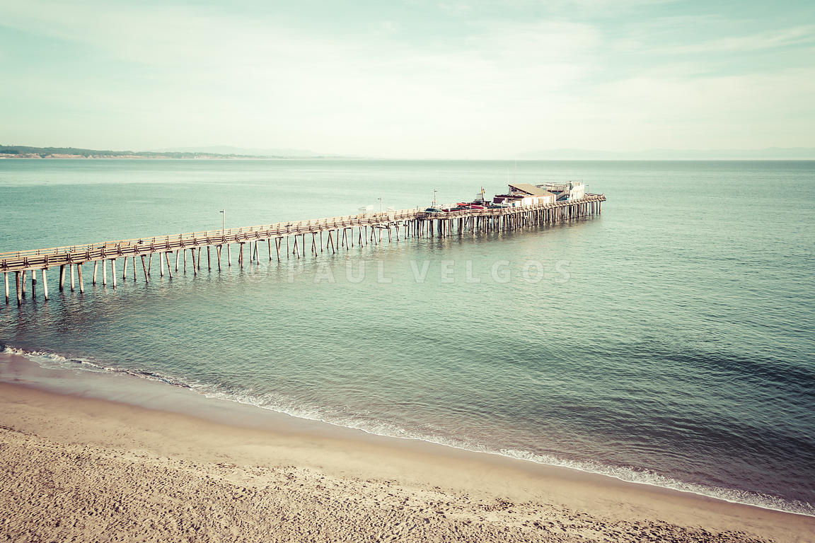 Capitola California Beach Wharf Pier Retro Photo