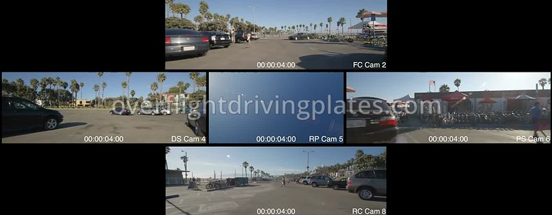 Beach Park Lot  Santa Monica California USA - Driving Plate Preview 2012