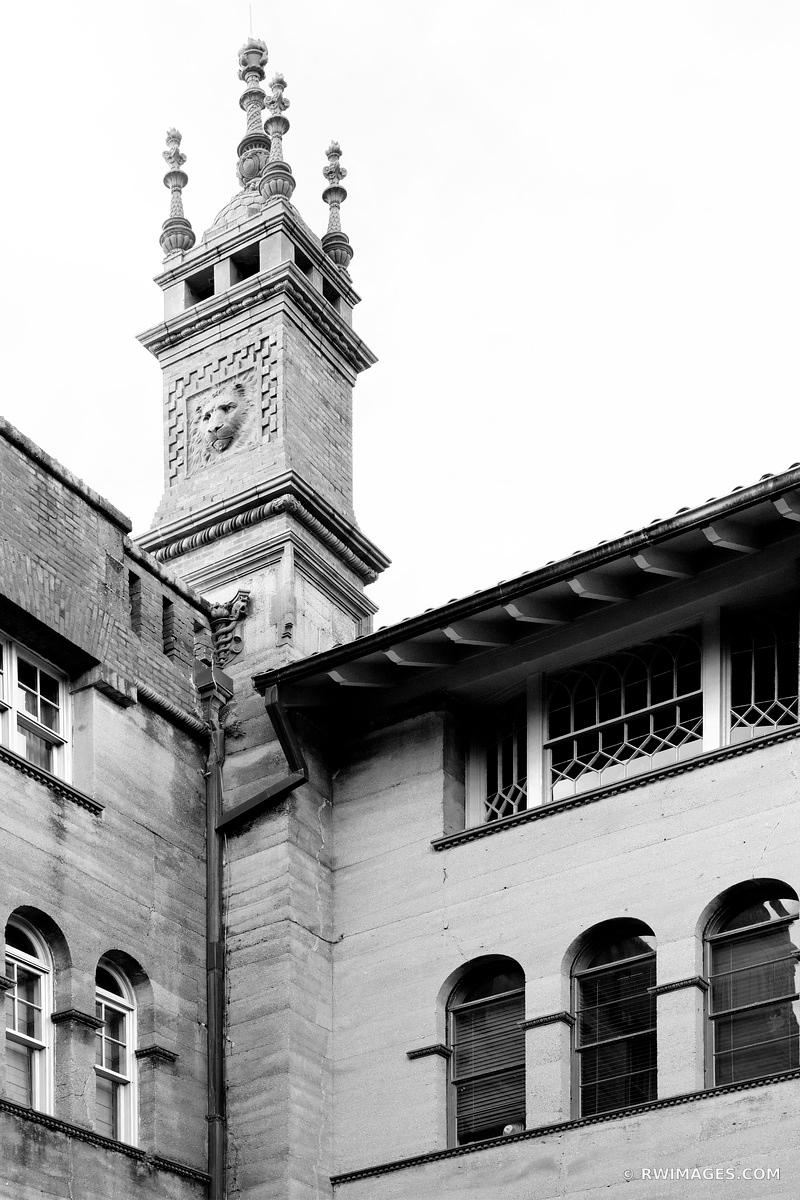 ALCAZAR HOTEL ST. AUGUSTINE FLORIDA BLACK AND WHITE