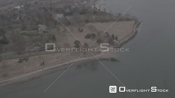 Drone Video Kinsie Point and Pine Creek Point Fairfield Connecticut - V-Log