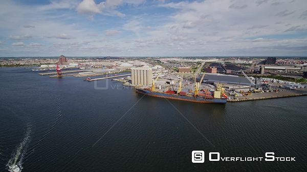 Baltimore Maryland Aerial Panoramic view of shipyard